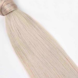 Human Hair Pony Tail 18″ #60 Platinum Blonde