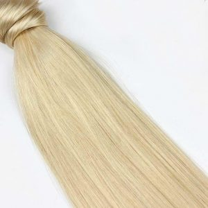 Human Hair Pony Tail 18″ #613 Beachy Blonde