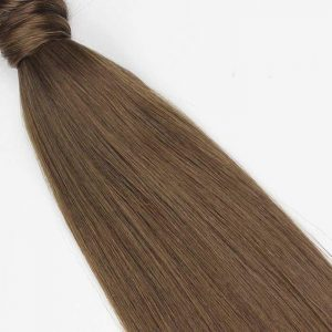 Human Hair Pony Tail 18″ #8 Cinnamon Brown